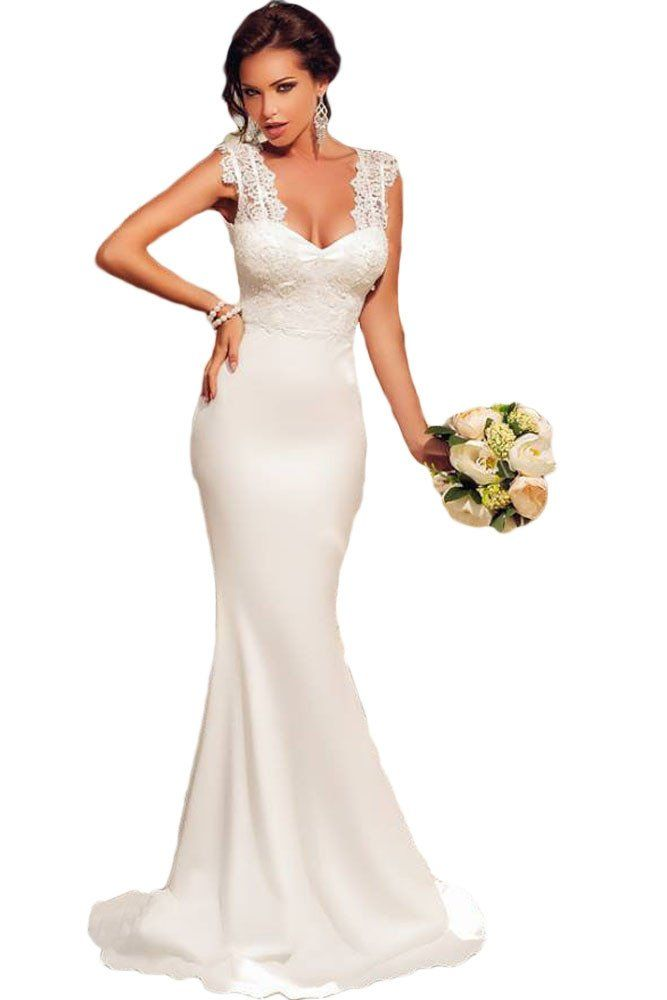 Evening dress with lace bodice wedding
