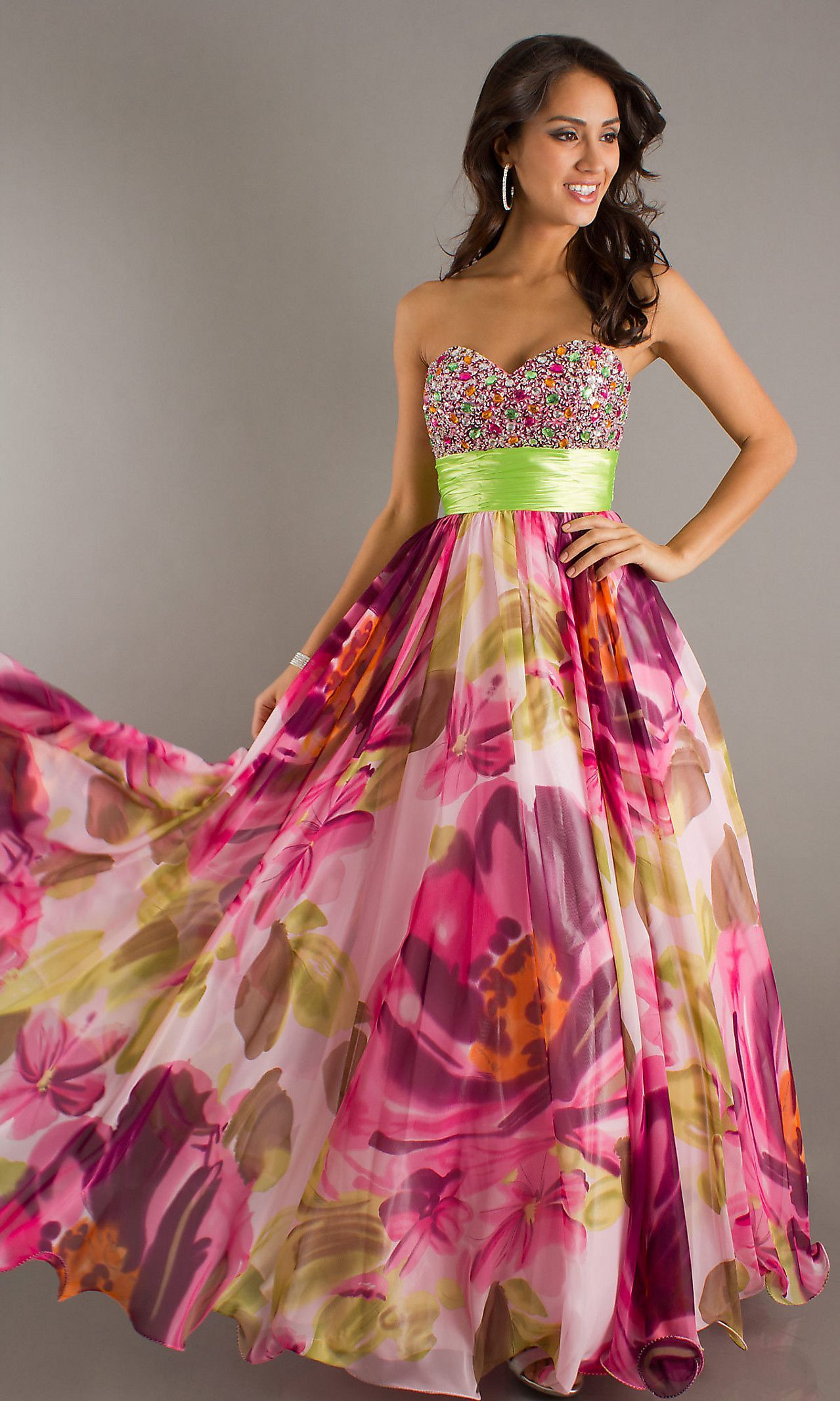 floral prom dresses - Google Search | Prom Dresses | Pinterest