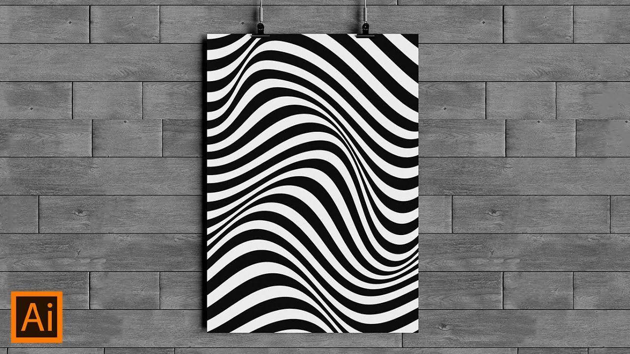 How To Make Wavy Line In Adobe Illustrator Youtube Illustrator Tutorials Adobe Illustrator Design Geometric Art