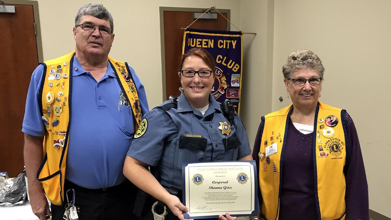 Queen City Lions Club awards Three Montgomery County