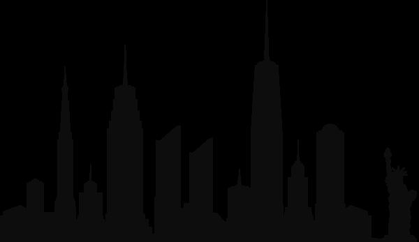 New York City Skyline Silhouette Png Clip Art City Skyline Silhouette Skyline Silhouette New York Skyline Silhouette
