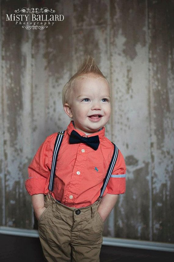 First Birthday Boy Outfit Boys Bow Tie Suspenders Cake