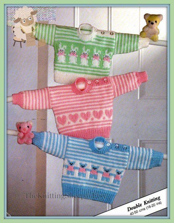 Poppy flowers. jumper pullover Ladies intarsia sweater knitting pattern in DK