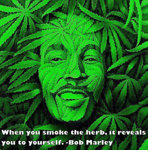 ॐ American Hippie Psychedelic Herbal Weed Bob Marley