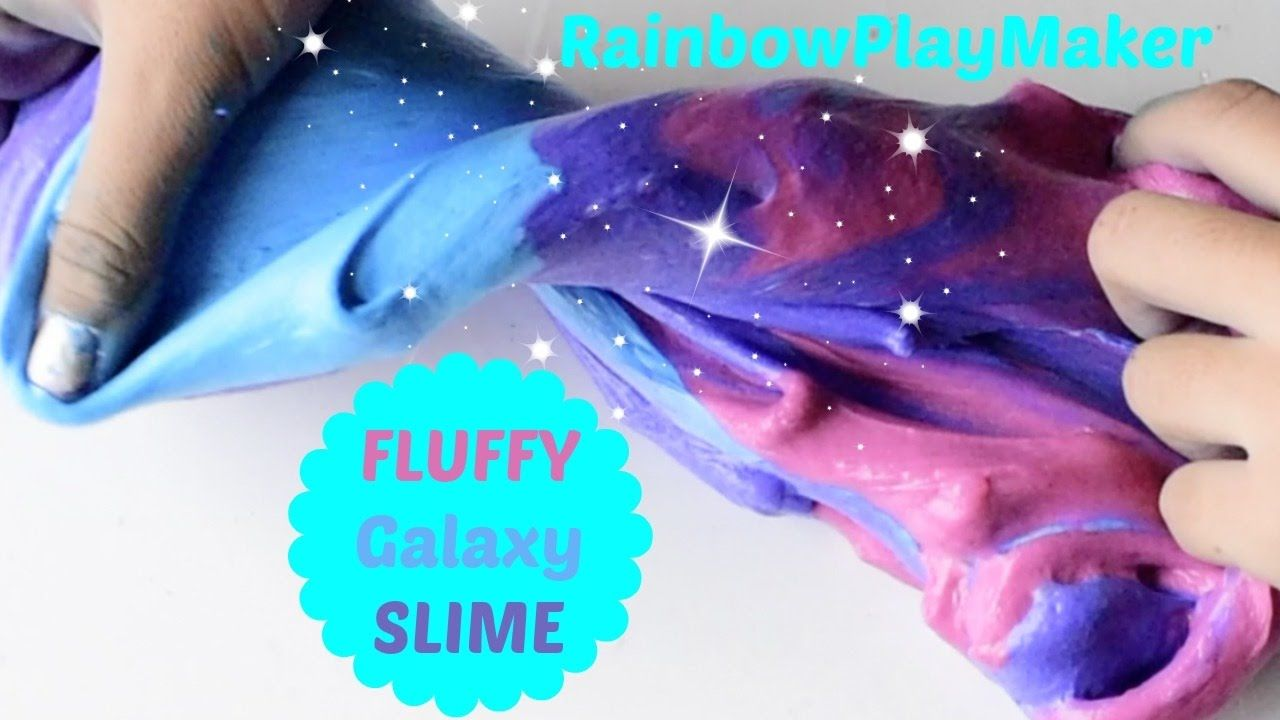 How To Make Fluffy Galaxy Slime Asmr Poking Video Easy