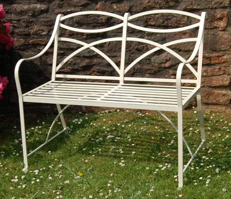 Beautiful Wrought Iron Rocking Bench Lovingly Repinned By Www