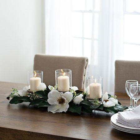 White Magnolia Centerpiece Kirklands Magnolia Centerpiece Dining Room Centerpiece White Magnolia
