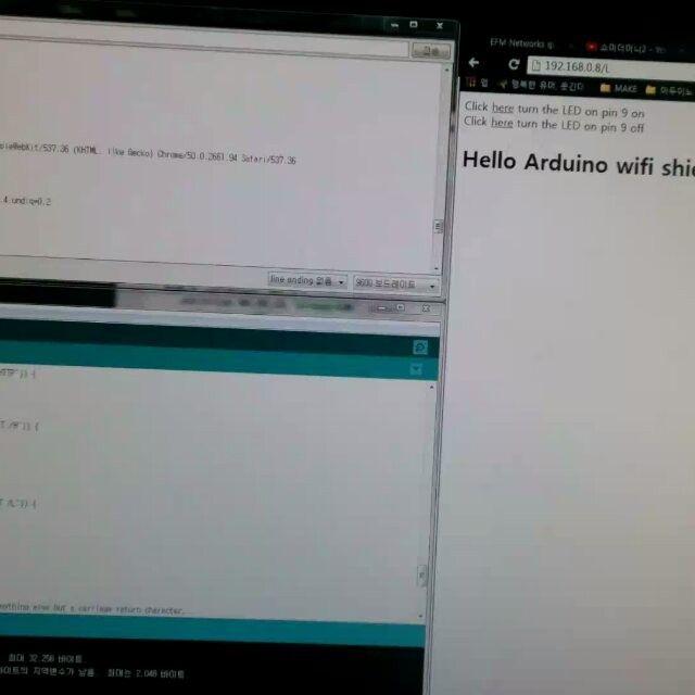 arduino #wifi #wifishield #web #server #wireless