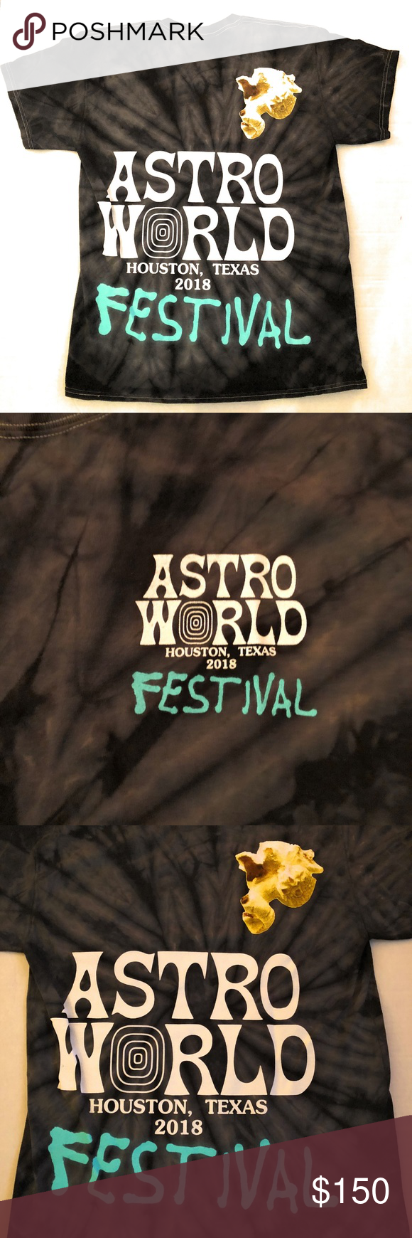 ea3da19b5e08 Travis Scott ASTROWORLD Festival Tie Dye Shirt Travis Scott - Astroworld  ASTROWORLD FESTIVAL BLACK T-