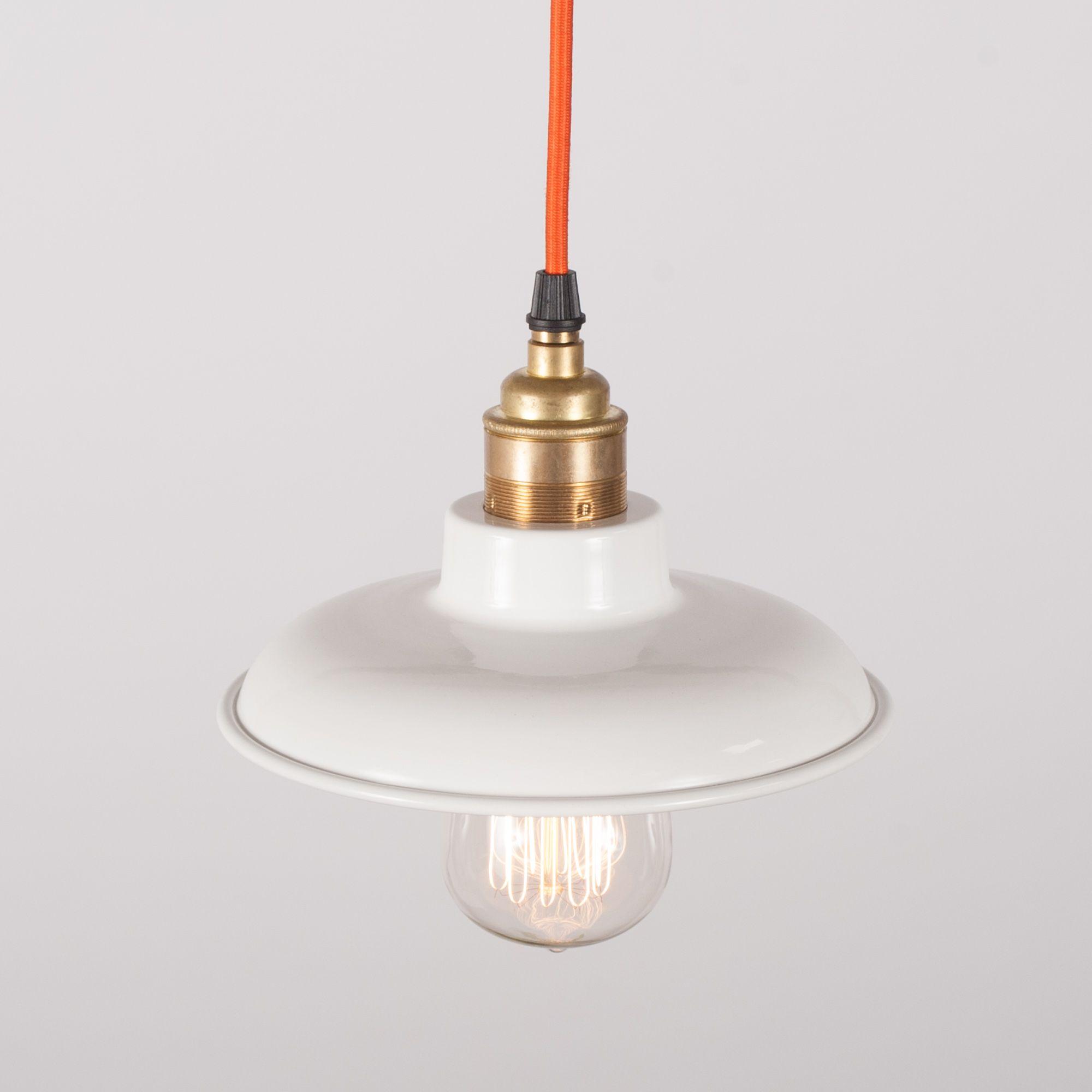 f824647ff66c Small Flat White Enamel Lamp Shade |