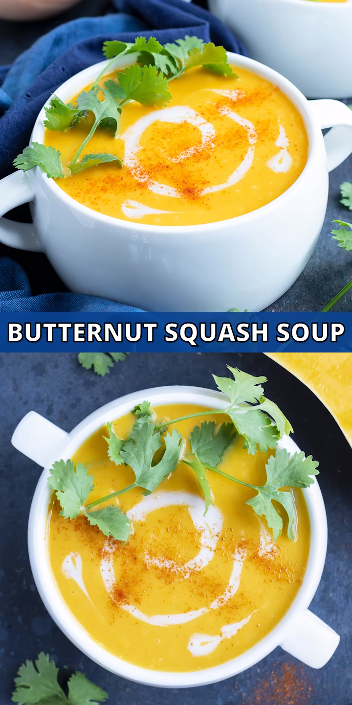 Easy Roasted Butternut Squash Soup | Whole30