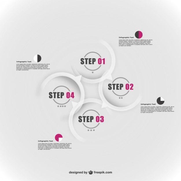 Projeto elementos redondos infográfico Vetor grátis