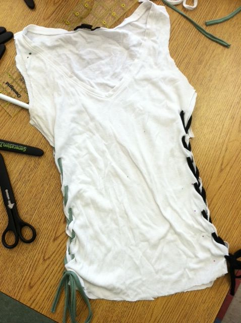 Tshirt redesign a redo for large tshirts crafts pinterest recyclage recyclage vetement - Idees recyclage vetements ...