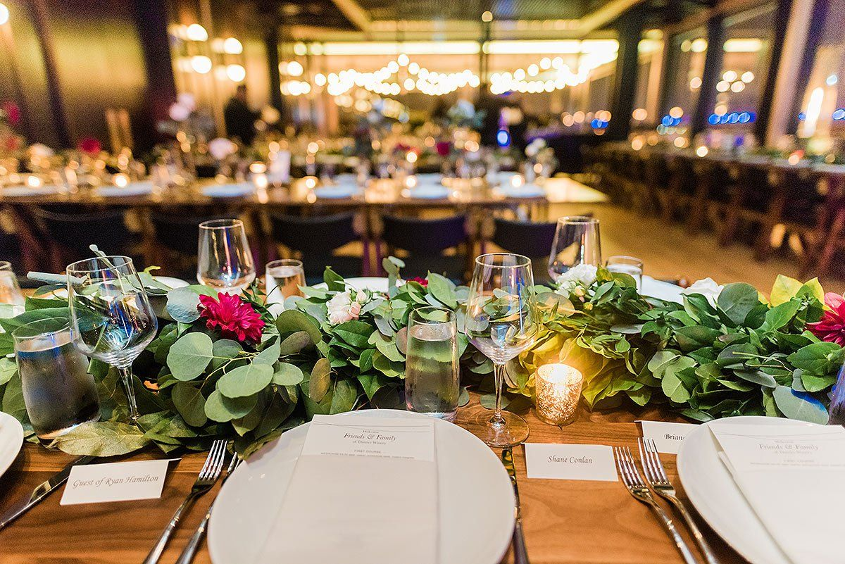 Reception Table And Details At District Winery Wedding By Washington Dc Photographer Adam Mason