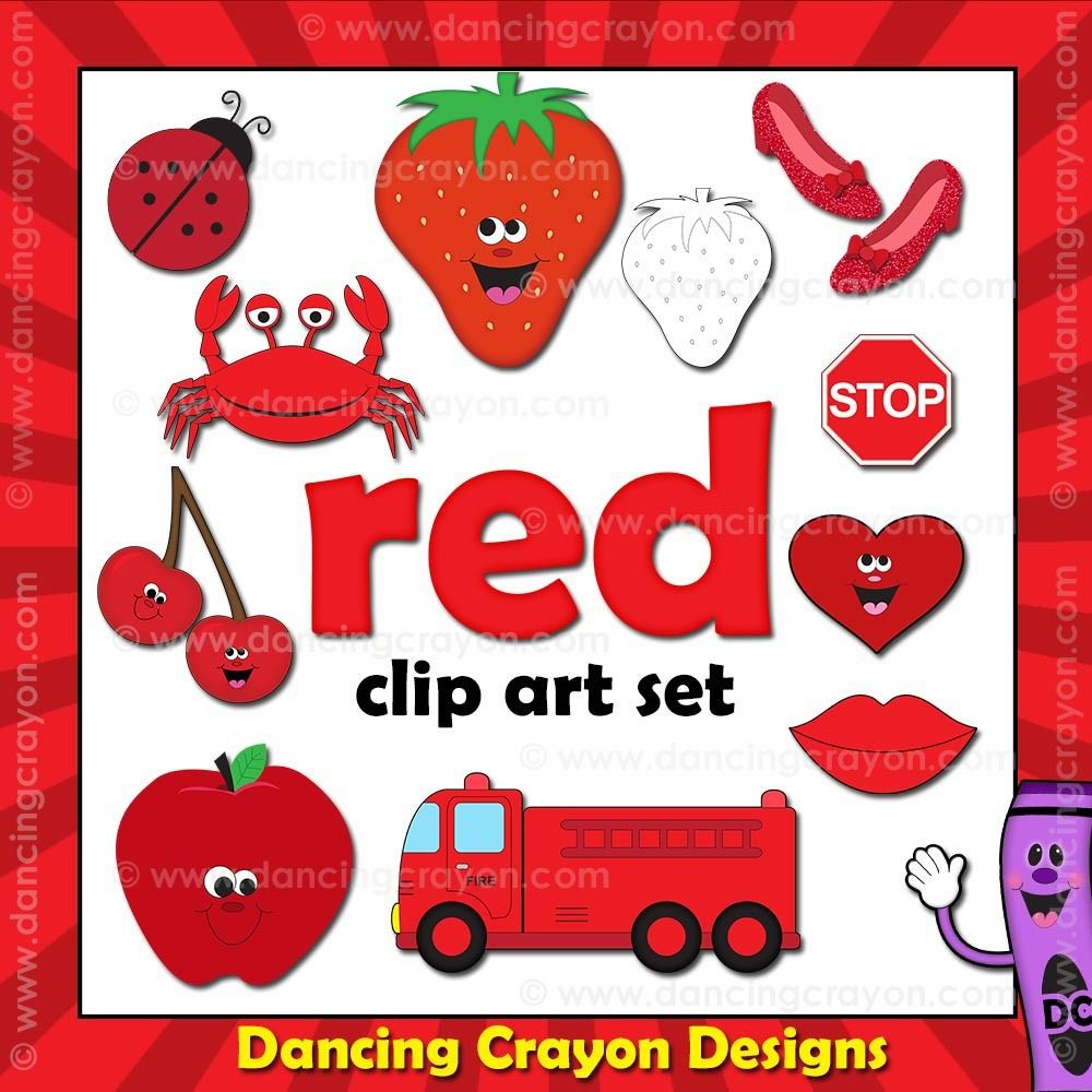 Red Clip Art Things That Are Red Color Clip Art Art Art Set