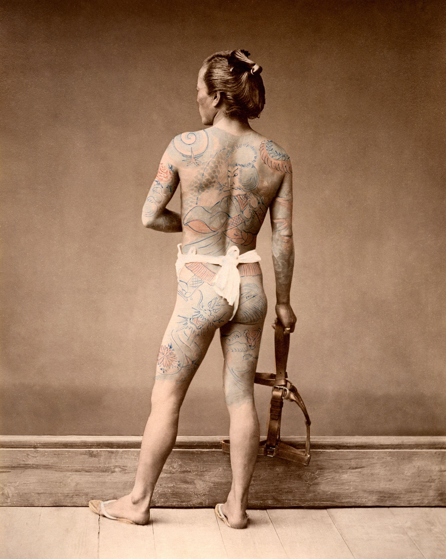 Tattooed man, ca. 1875 by Baron Raimund von Stillfried