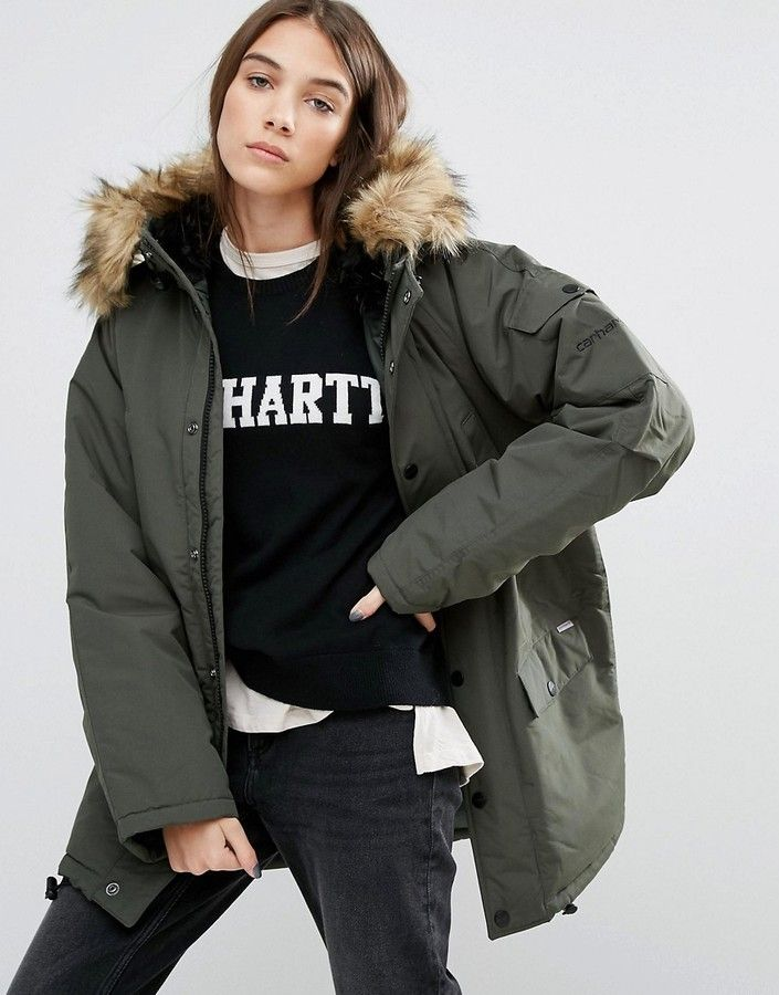 Jacket Parka Hooded Carhartt Wip Removable With Anchorage Oversized wZORAaqxXv