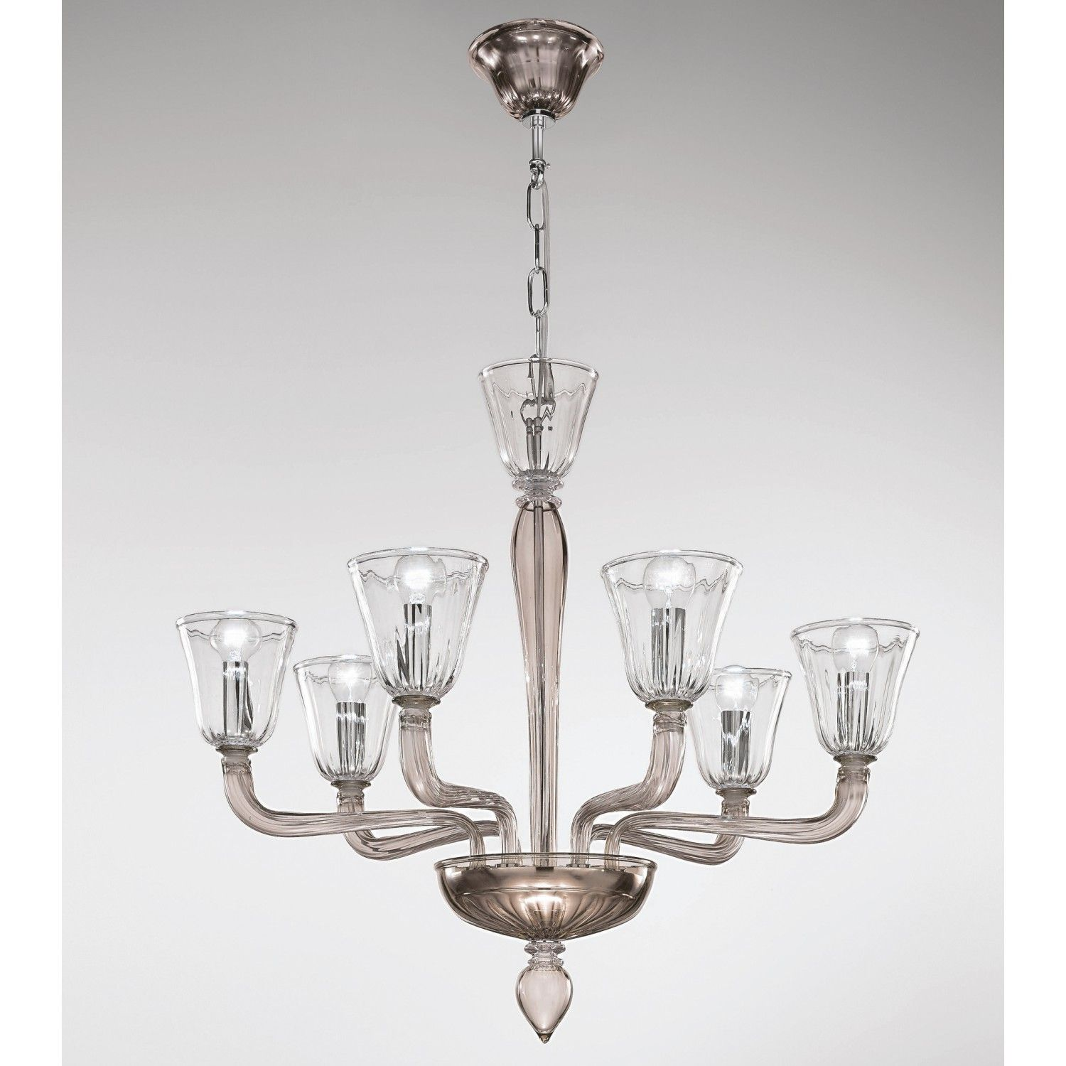 Topdomus Murano Gl Artistic Chandelier 301187 6 Lights Directly From Italy