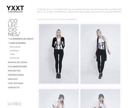 Diseño y desarrollo de sitio web para YXXT  http://www.yxxtestudio.com    veronika garcia || graphic design
