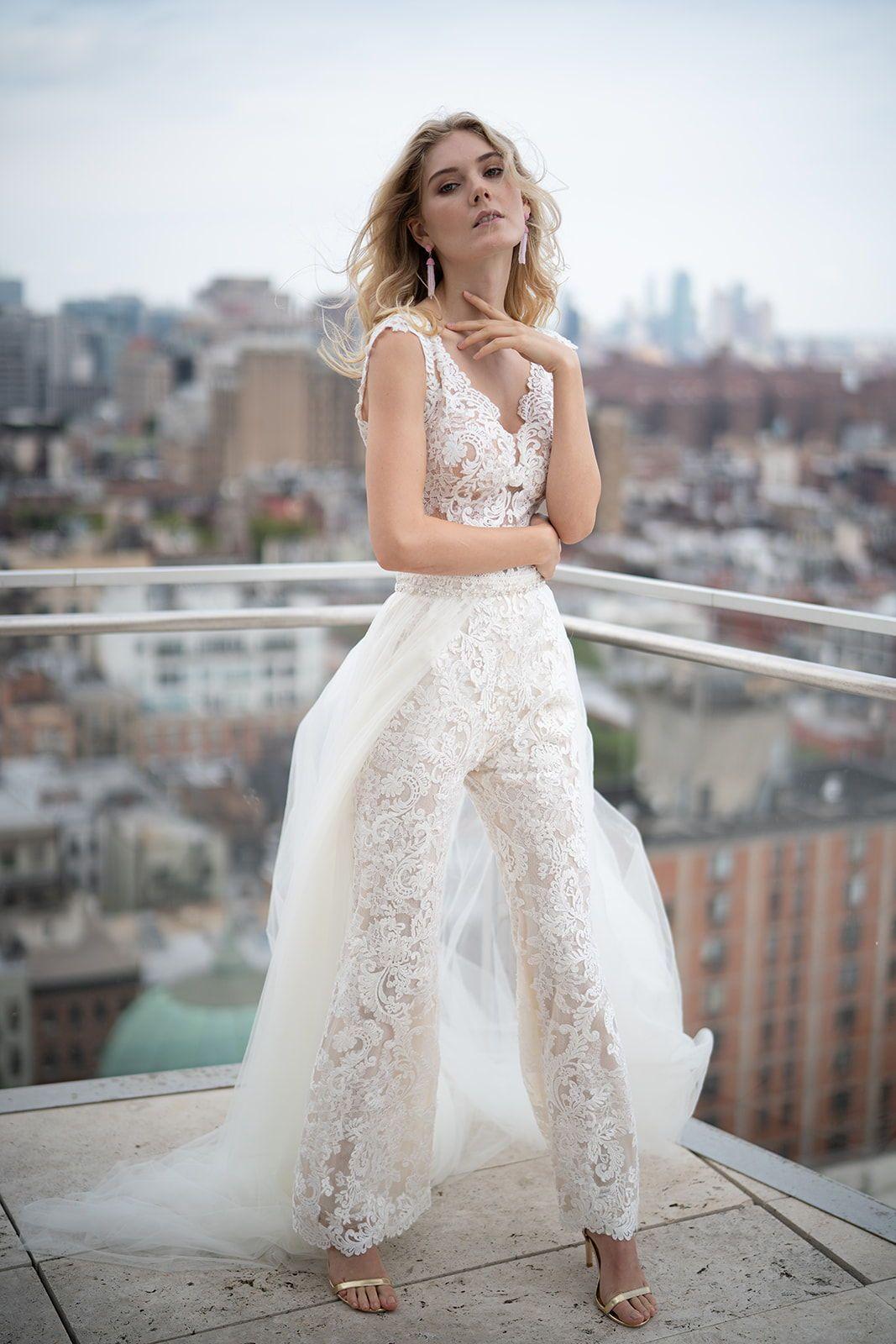 Pantsuit Bride Jumpsuit Wedding Dress