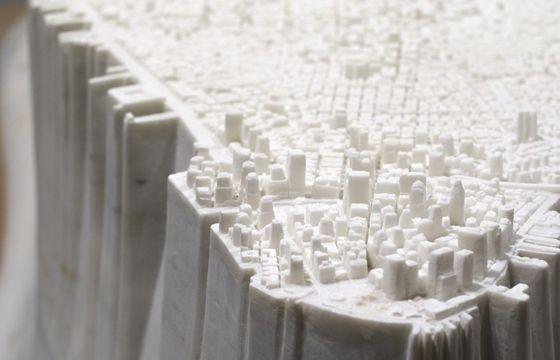 "Juxtapoz Magazine - Yutaka Sone's ""Little Manhattan"" is Carved From Marble"