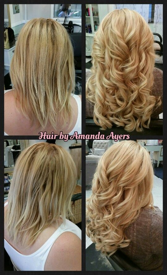 Facebookhairbyamandaayers Clip In Extensions Before And