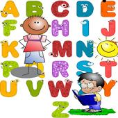 Abecedario Alfabeto en castellano. Juego infantil que permite a los niños aprender con facilidad los caracteres y el sonido de las letras en español. Herramienta educativa para los niños en edad preescolar.