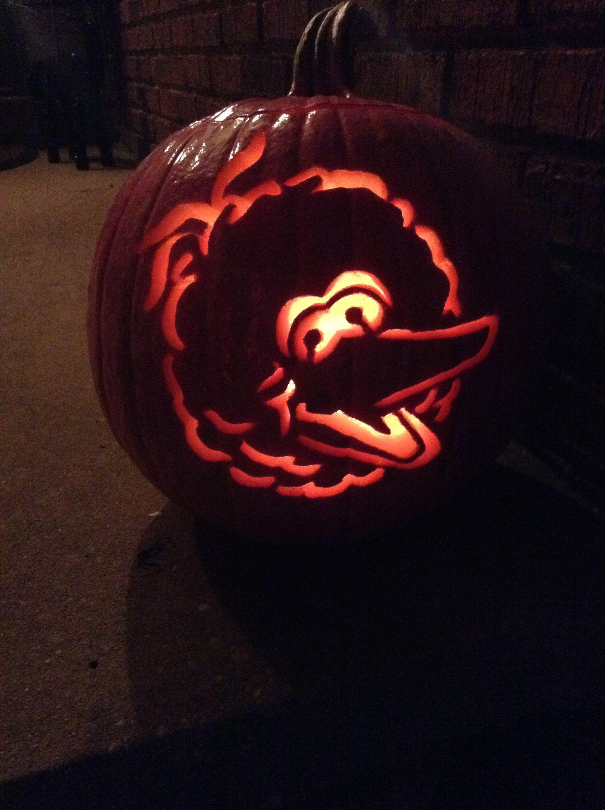 Sesame Street Big Bird Pumpkin