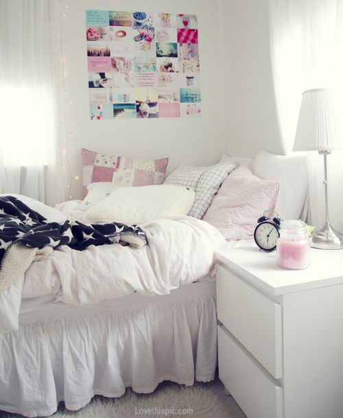 White bedroom interiorWhite bedroom interior    future home    Pinterest   Bedrooms  . All White Room Tumblr. Home Design Ideas
