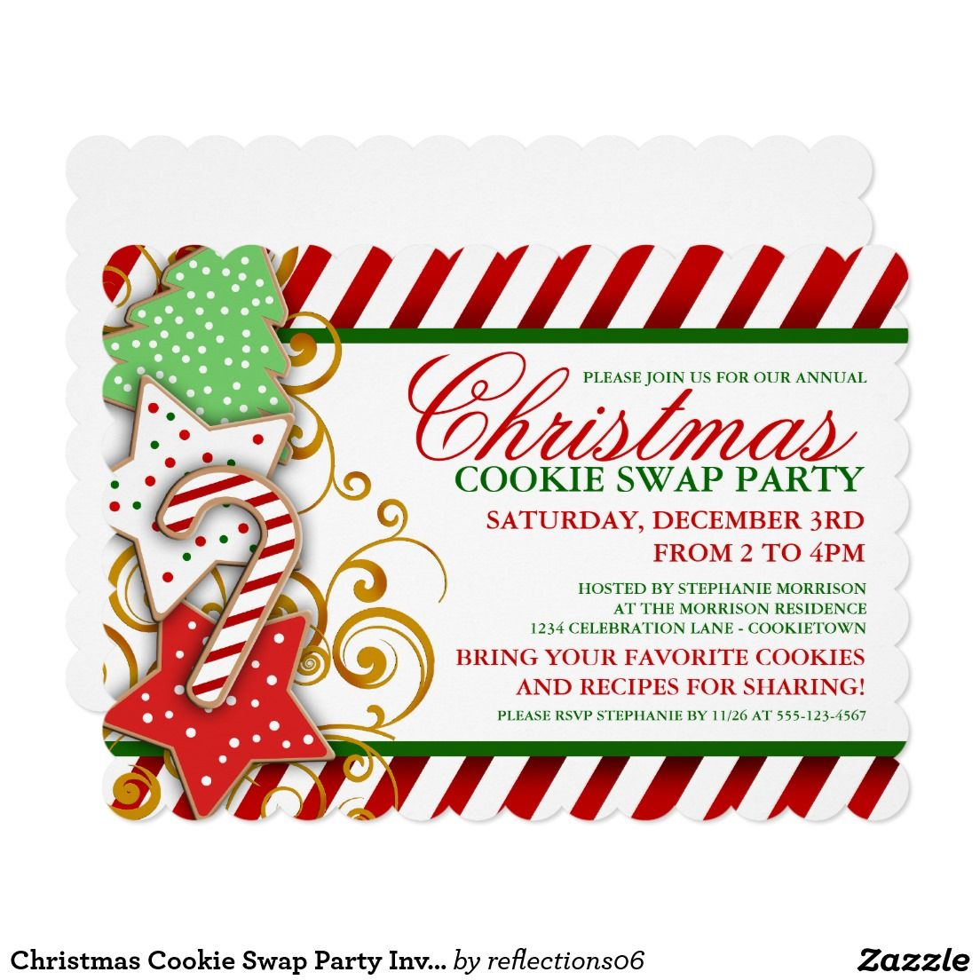 Christmas Cookie Swap Party Invitation | Christmas Party ...