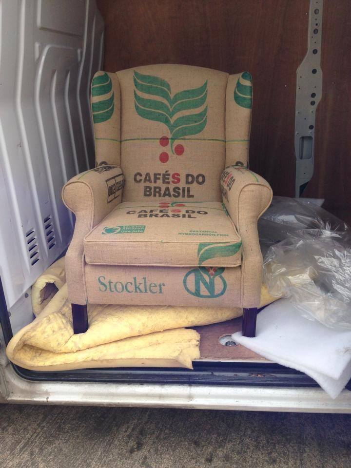 The Coffee sack chair! This would look great in a home or in a coffee shop!