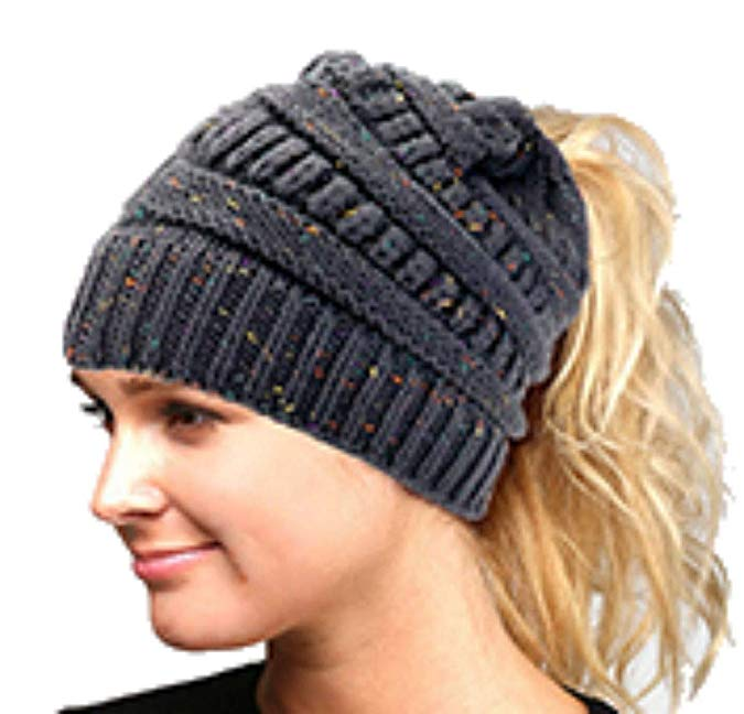 WT001 Solid Stretchy Hole Beanie in Brown /& Multicolor