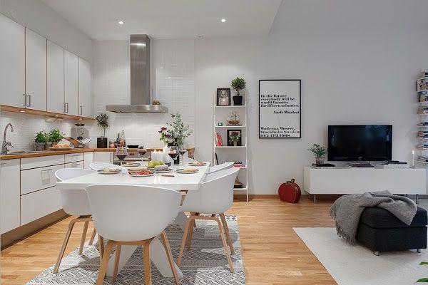 Hola a tod@s, de nuevo un lunes y empezamos la semana con un post dedicado a una tendencia que en los últimos años ha cobrado más fuerza: integrar la cocina en el salón. Por motivos de espacio en l…