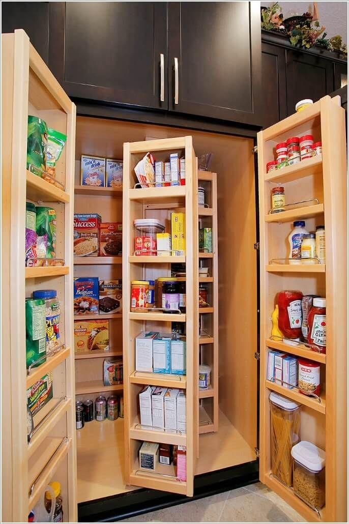 10 ideas inteligentes para almacenar más de una despensa pequeño ...