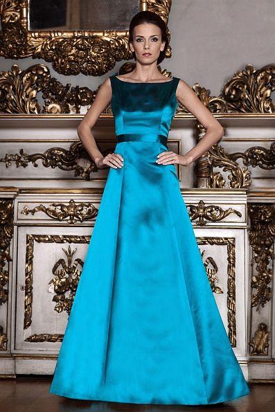 Dress Jana - Handmade silk evening gown - Handgefertigtes Abendkleid ...