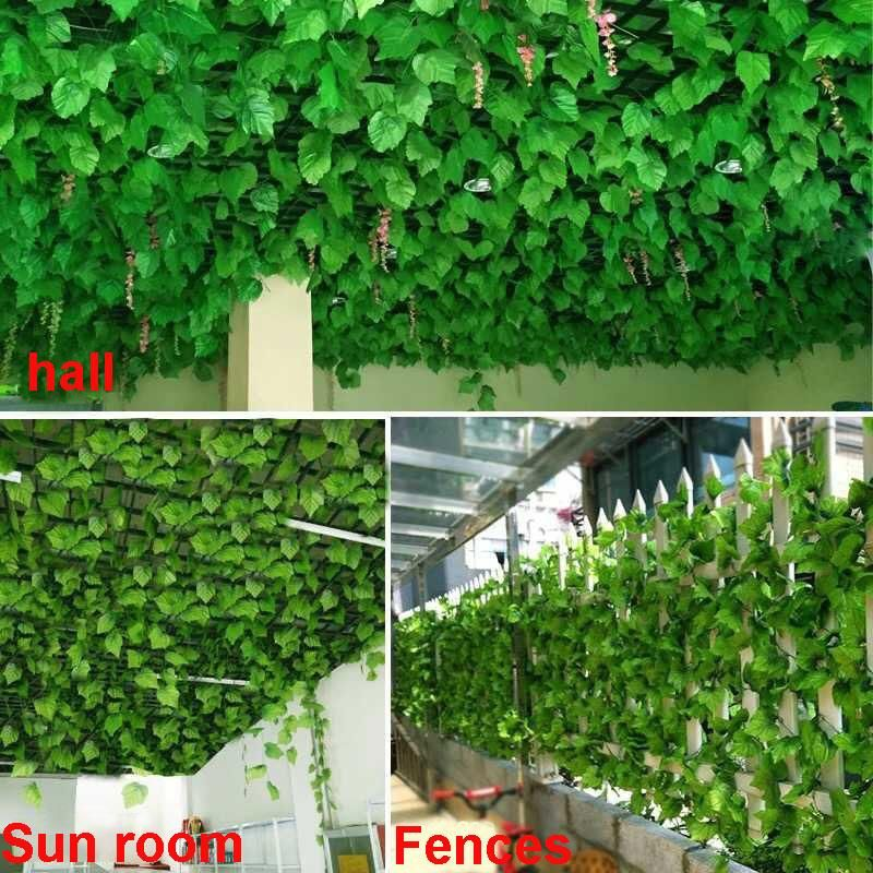 simulation flower vine fake rattan leaves wall ceiling decoration artificial flowers artificial plants leaves