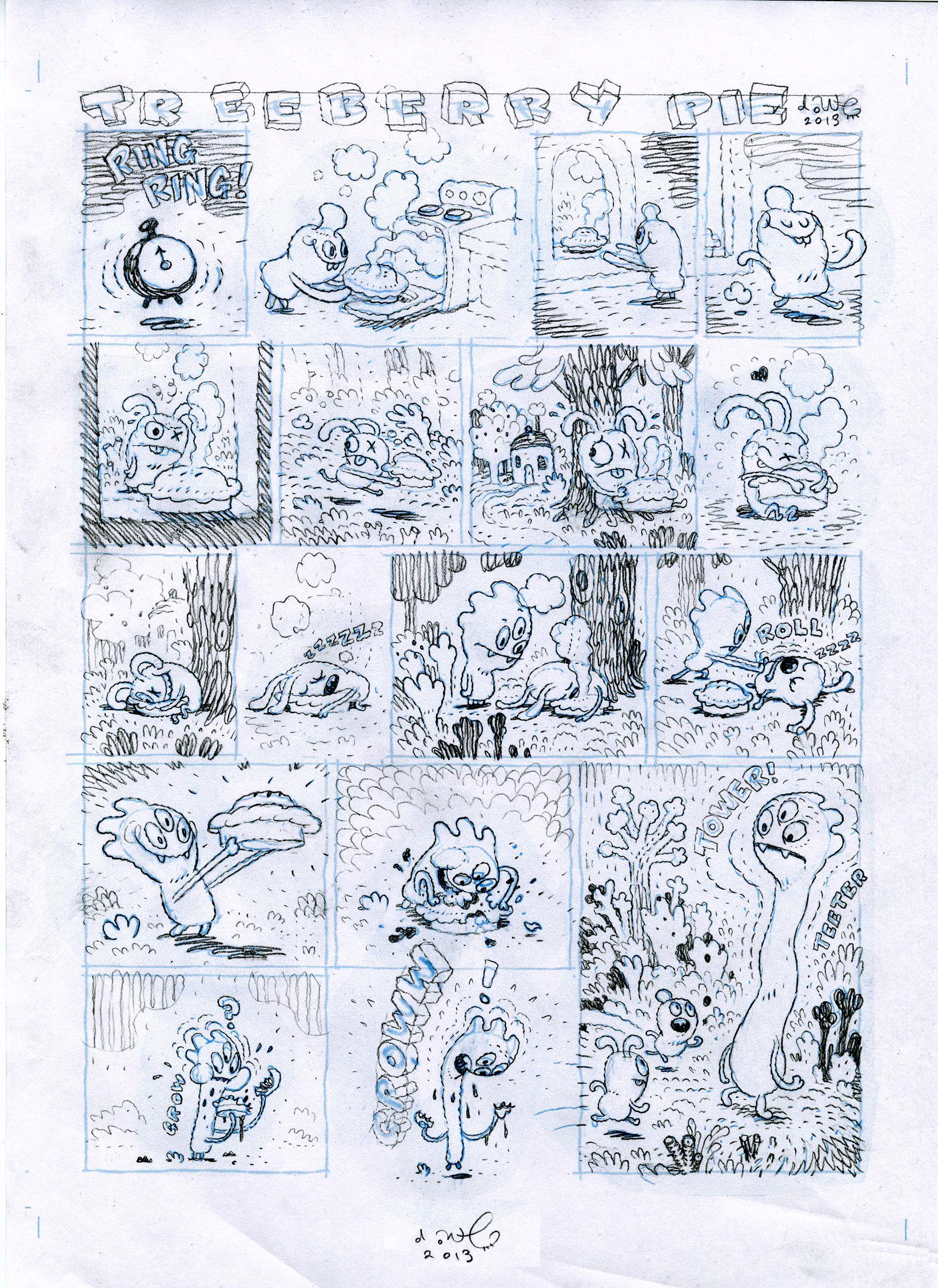 Treeberry Pie by Dave Cooper Comic books art, Comic art