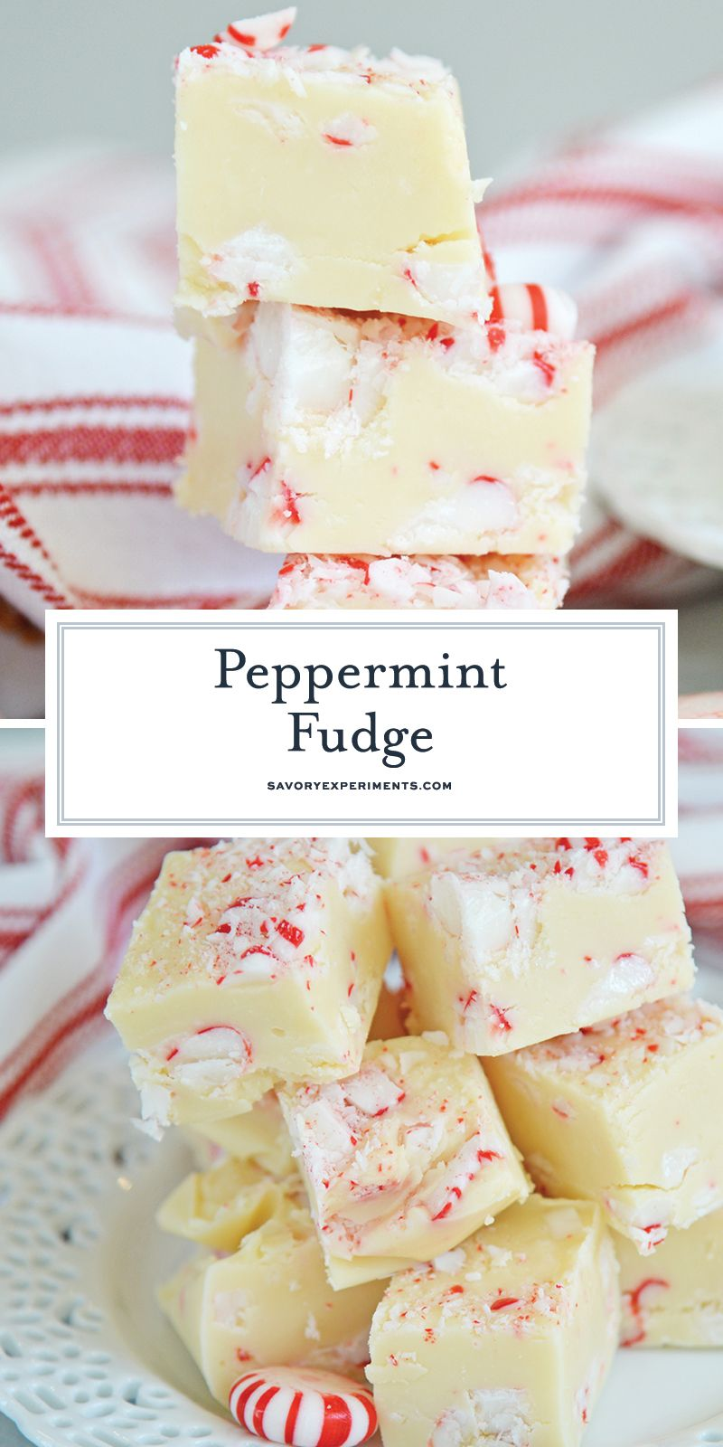 Peppermint Fudge Is An Easy Fudge Recipe Using Sweetened Condensed Milk And White Chocolate Perfect For Peppermint Fudge Peppermint Fudge Recipe Fudge Recipes