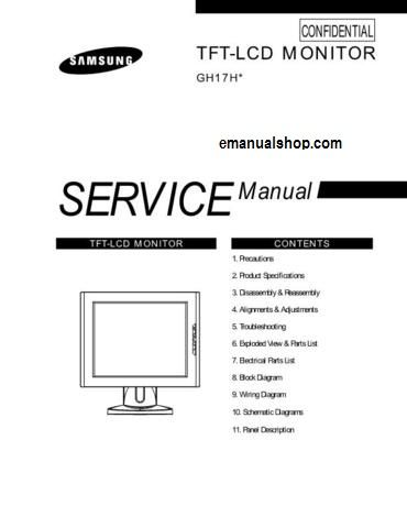 samsung lcd monitor gh17h service manual download service rh pinterest com Manufacturers Auto Repair Service Manuals GM Service Repair Manuals