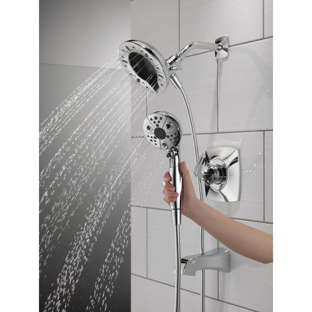 Delta Vesna In2ition 2 In 1 Single Handle 5 Spray Tub And Shower