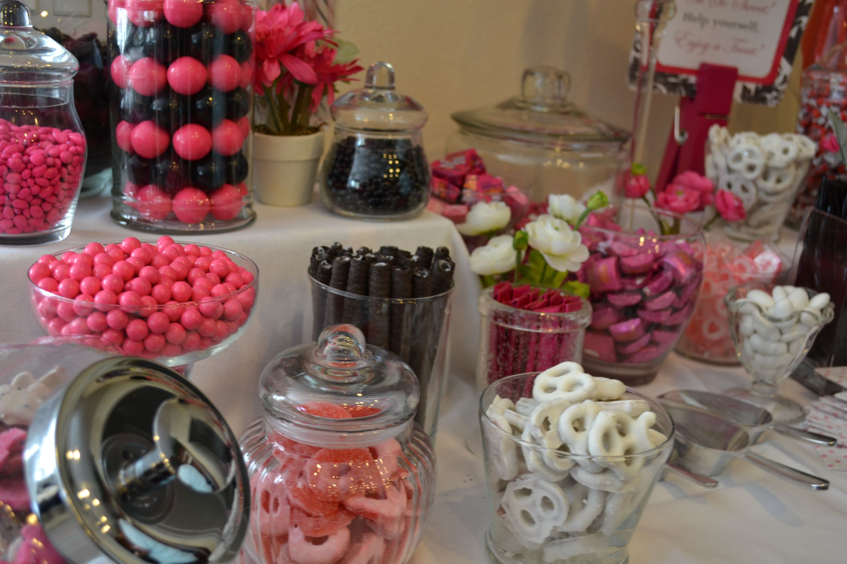 candy table candy buffet baby ideas baby shower shower ideas pink