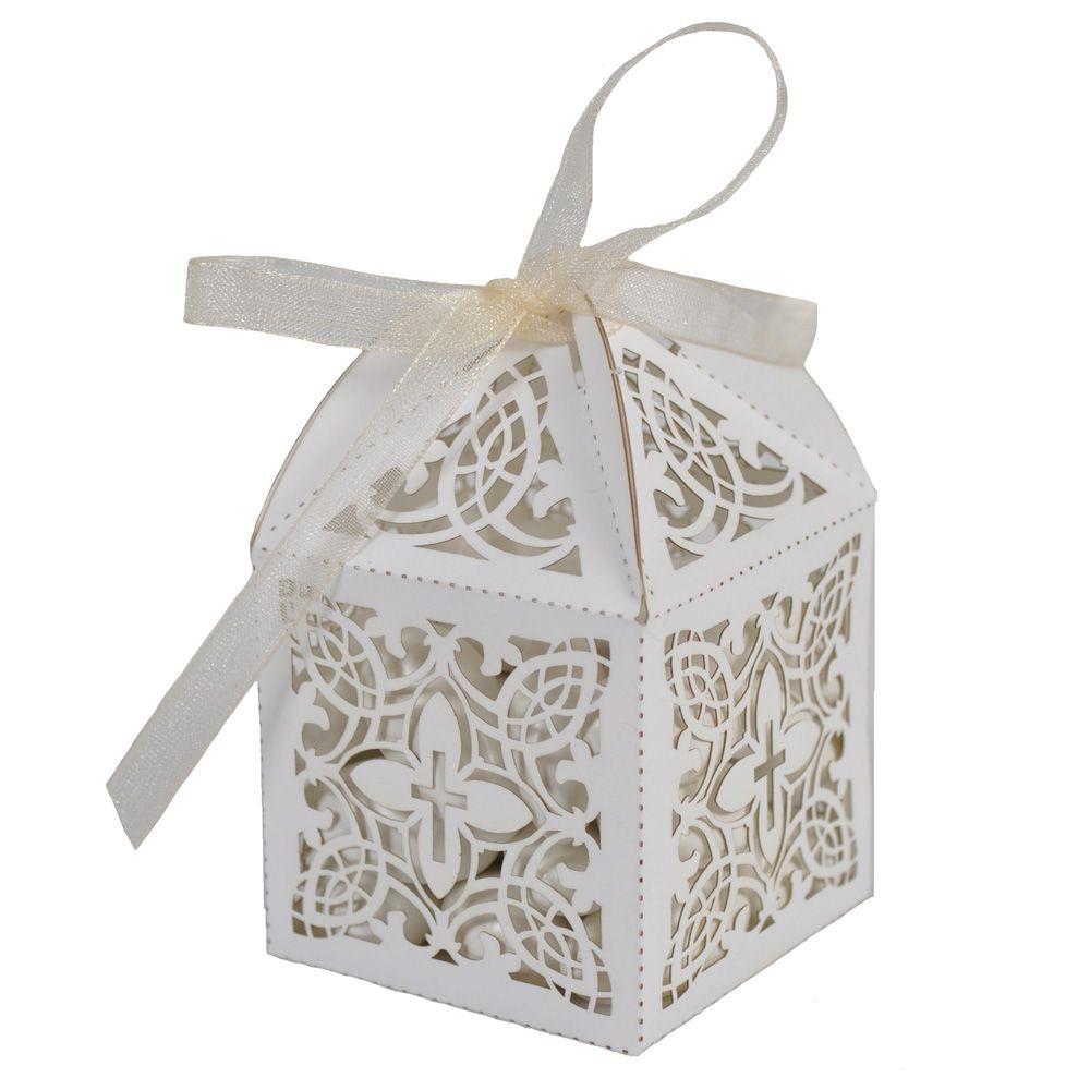 Laser Cut Favor Box - Cross | Handmade wedding, Favors and Bridal ...