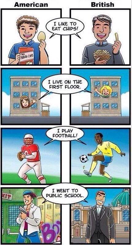 Usa Vs Uk English Memes Divertidos Gracioso Imagenes Graciosas