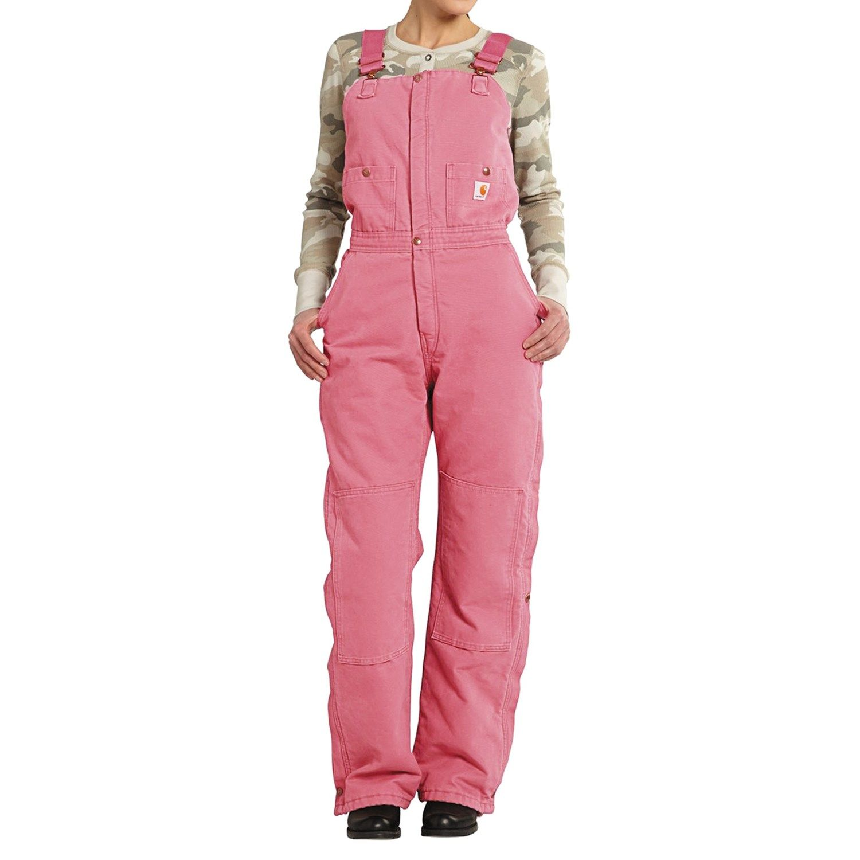 carhartt zeeland sandstone bib overalls quilt lined on womens insulated bib overalls id=48254