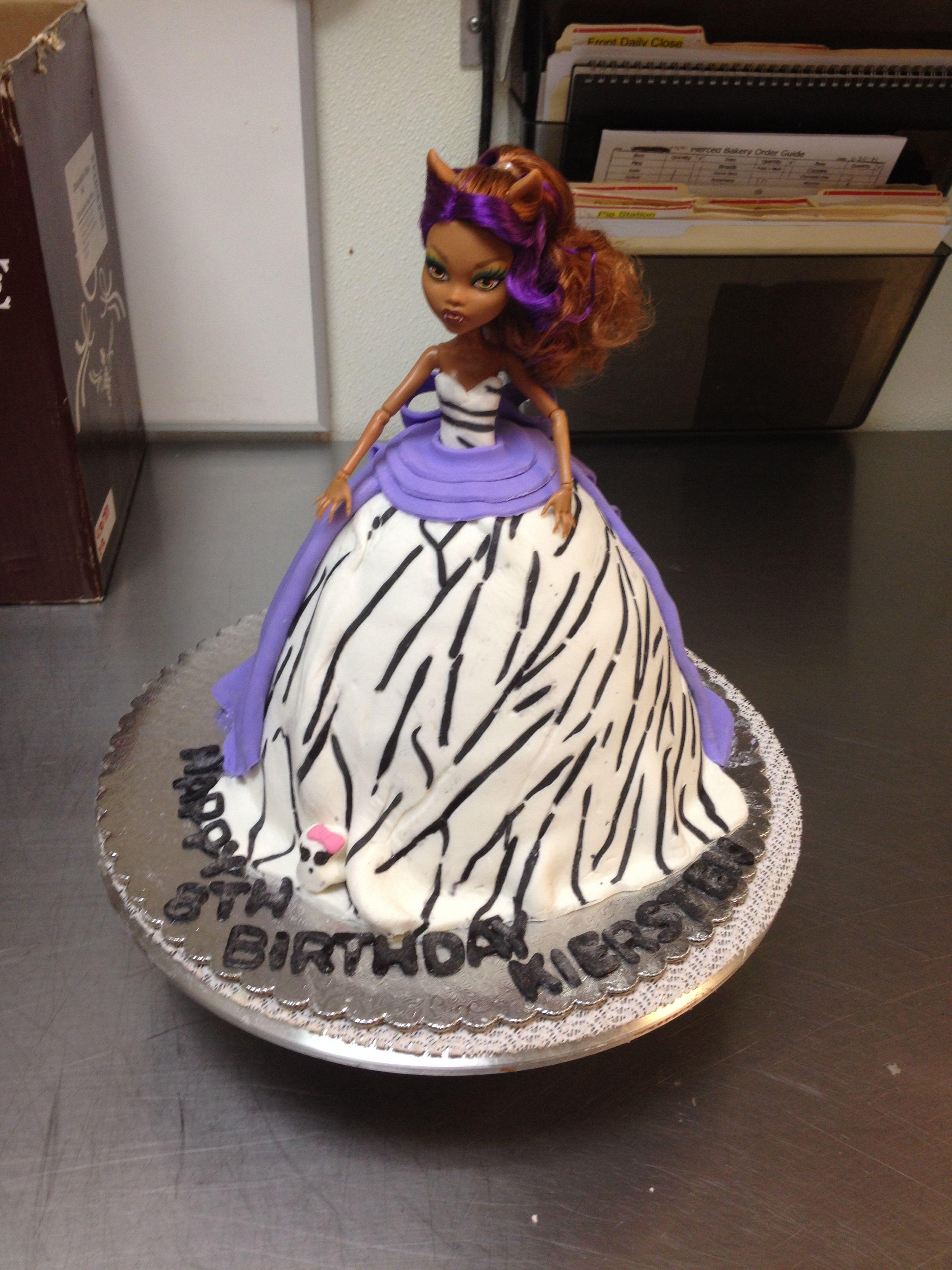 Sensational Monster High Doll Cake My Cakes Personalised Birthday Cards Sponlily Jamesorg
