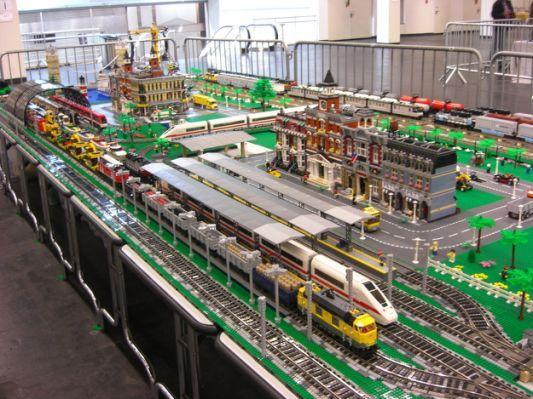 Lego City And Train Layout Lego Architecture Lego Trains Lego City