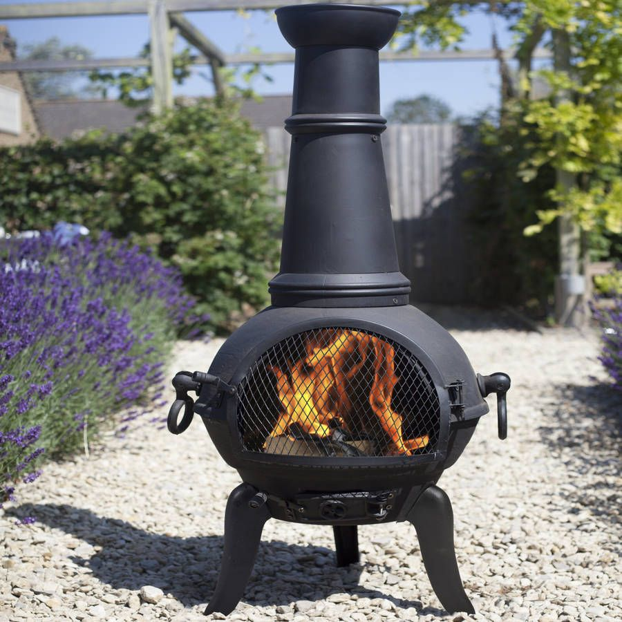 Charming Chiminea Patio Heater And Swing Grill