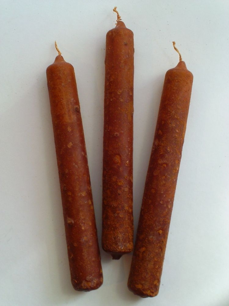 Cinnamon /& Clove PRiMiTivE Handmade Candle Holder Shared Wick Taper Candles