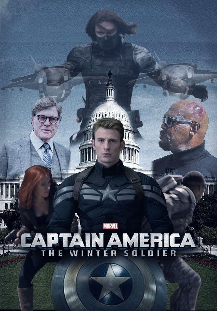 Капитан америка постер на английском
