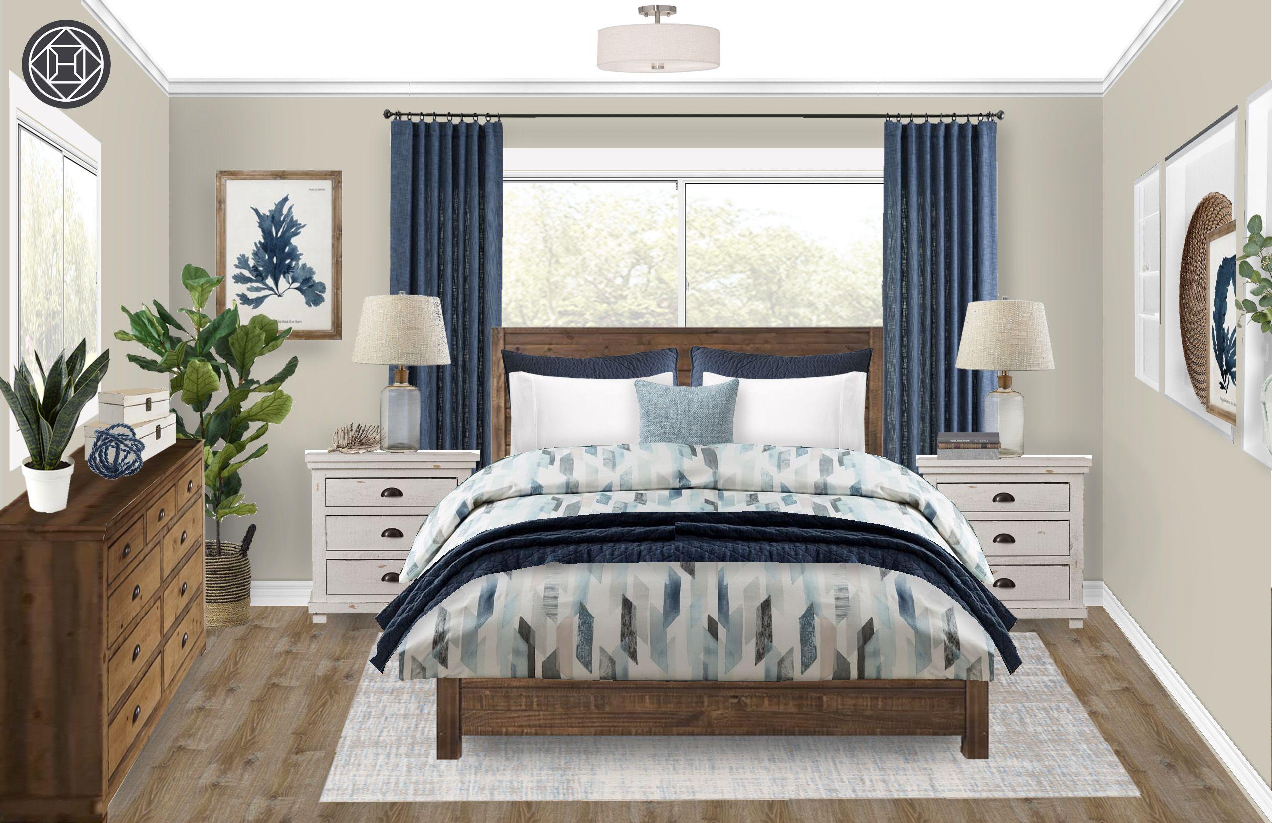 coastal transitional bedroom designhavenly interior